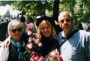 Receiving her PhD at UW, with Micky and Jack
